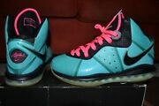 Lebron 8 South Beach Pre-heat 2010 Pre-owned 100 Authentic Priority Ship