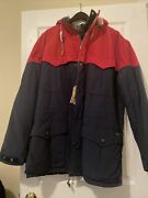 Polo Great Outdoors Field Guide Navy Red Hooded Jacket Coat 2xl