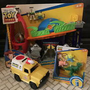 New Fisher Price Imaginext Toy Story Pizza Planet Rex Ham Alien Pack Truck Lot A