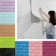 3d Tile Brick Stone Wall Sticker Self Adhesive Diy Pe Foam Panels Embossed Decal