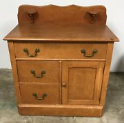 Vintage Country Cottage Chest Cupboard Cabinet Commode Wash Stand Pick Up