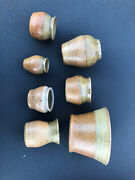 Lot Of 7 Pcs Of Margaret Gordon Pottery 1988 Sand With Top Glaze