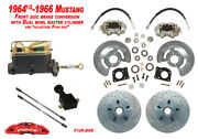 1964-66 Ford Mustang Front Drum To Disc Brake Conv Kit11 Cross Drilled Rotors