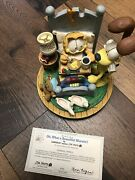 Danbury Mint Garfield And Odie Oh What A Beautiful Morning Music Box W/ Base