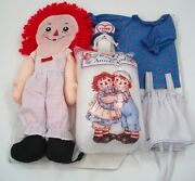 Vintage New Raggedy Ann Doll Set With Clothes Doll And Stuffing Diy