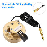 Automatic Iambic Paddles Keyer Cw Key Morse Code W/ Cable Dx-d-035 For Ham Radio