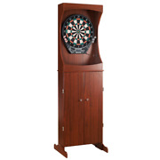 Dart Board Cabinet Outlaw Free Standing Cherry Electronic Lcd Display