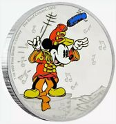 2016 Mickey Mouse Through The Ages The Band Concert Colorized Proof Silver Coin
