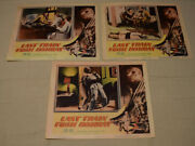 Lot Of 3 Vintage 1952 Last Train From Bombay Lobby Cards Movie Posters 11x14