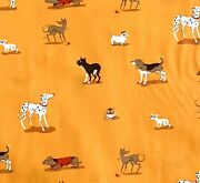 Rpcr07d Heather Ross Lightning Bugs Puppy Dogs Rare Oop Cotton Quilt Fabric