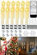 12 Pcs Flameless Led Window Candles, Battery Operated Flickering Taper Candles
