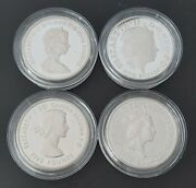 Uk United Kingdom Britain Piedfort Silver Proof 4 X Andpound5 Coins Set 2013 Year