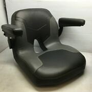Seat King Sk120 Two-tone Lawn Mower Seat W/ Padded Armrest Accent Stitching