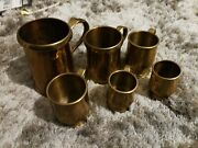 6 Charming Antique Copper Measuring Cups Or Gills