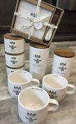 Rae Dunn Bee Icon Set With Cellar Canisters, Mugs, Cheese Tray Bundle Lot