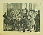 London Banking, Finance, Any Change In The Bank Rate 1871 Antique Art Print
