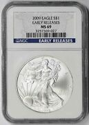 2009 American Silver Eagle 1 Ms 69 Ngc Early Releases