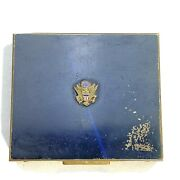 Vintage Wwii Us Army Air Corps Enameled Souvenir Powder Compact