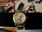 Vintage Disney Lorus Musical Mickey Mouse Watch Goldtone Band V52z-x001 No Music