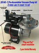 Electric Premium Vacuum Pump Kit Fully Assy For Brake Booster 12 Volt 18 To 26