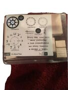 Stampin Up Itand039s About Timeandnbsp 8 Wood Rubber Stamps Time Clock Gears Date Stamp New