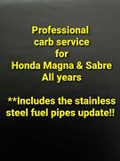 Professional Carb Service For Honda Magna And Sabre Clean And Rebuild Ultrasonic