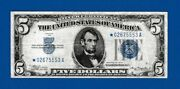 Fr.1650 5 1934 Star Silver Certificate Note Sn Star 02675553 A