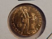 Netherlands 1927 Trade 1 Gold Ducat .1104 Actual Gold Weight Uncirculated Coin