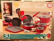 The Pioneer Woman 30 Piece Set Vintage Red Speckled Non-stick Brand New