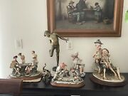 """Capodimonte """"drunk Men"""" Excellent Condition Made In Italy"""