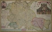 Holy Roman Rich German Nation - Rare Big Card From H. Moll 1720