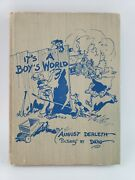 Signed August Derleth Dwig Itand039s A Boyand039s World Poems First Edition 1947 No Dj