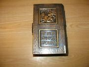 Vintage Hebrew Illustrated Judaic Metal Cover Bible All Hebrew Tanach Near Mint
