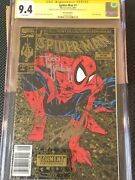 Spiderman 1 Gold Upc Walmart Edition Ss Stan Lee And Todd Cgc 9.4 Extremely Rare