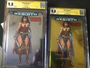 Wonder Woman Rebirth 1 Cgc Ss 9.8 Nycc Gold And Silver Foil Variant Jim Lee + Ss