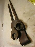 Vintage Box End Williams Superrench And Pandc Open End Spud Wrench With Holder