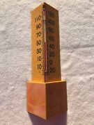 Vintage Plastic Coke Cocacola Thermometer Red And White