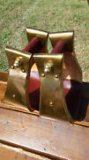 3 Brass Monel Bell Ranch Roping Saddle Stirrups