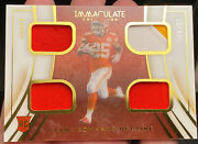 2020 Immaculate Collection Clyde Edwards-helaire Quad Jersey Patch 23/49 Chiefs