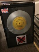 Duran Duran I Dont Want Your Love Silver Vinyl Single Framed
