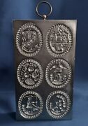 Vintage Springerle Cookie Mold Silver Metal On Board By The House On The Hill