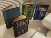 Lot / Collection - 4 Decorative Bindings / Covers Antique Books - Free Shipping