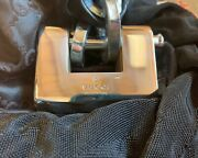 Rare New Vintage Large Motorcycle Bike Lock Heavy Duty Chain Italy