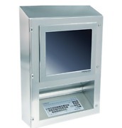 Strongarm Clean Room Computer Work Station With Keyboard And Flat Screen Stainless