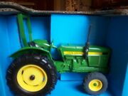 John Deere Compact Utility Toy Tractor With Ropsand Front Suitcase Weights By Ertl