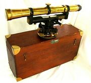 Huge Keuffel And Esser Sight Level Surveying Transit 18-1/2 Inches C.1920's
