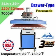 7000w 31x39in Pneumatic Slide Out Drawer Large Format T Shirt Heat Press Machine