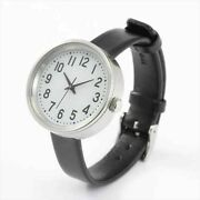 Muji Mj-pcws1 Wristwatch Solar Powered Small Band Black Leather New Jp Best Deal