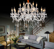 Led Clear Crystal Ceiling Lamp Candle Island Light Chandelier Luxury Pendant