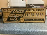 Selinsgrove Pa Reading Lauer Brewing Co Sg Mitchell Lager Beer Gold Tin Sign
